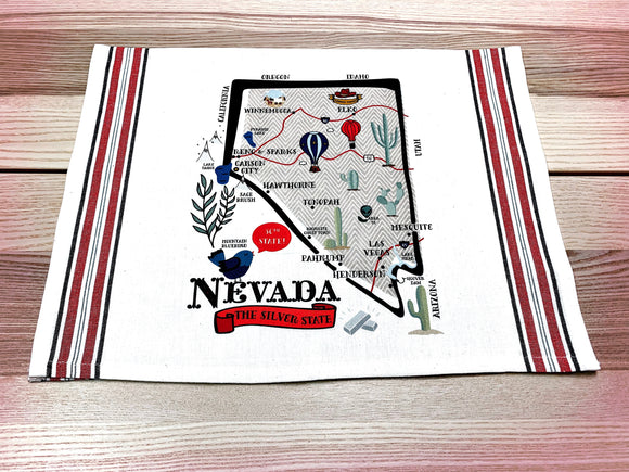 Nevada State Map Kitchen/Tea Towel