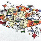 Las Vegas Map Kitchen/Tea Towel