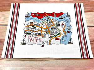 Boston Map Kitchen/Tea Towel