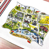 Princeton, New Jersey Map Kitchen Tea Towel