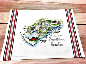 Provincetown, Cape Cod Map Kitchen/Tea Towels