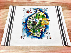 St Lucia Map Kitchen/Tea Towel