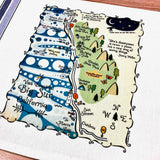Big Sur Map Kitchen/Tea Towel