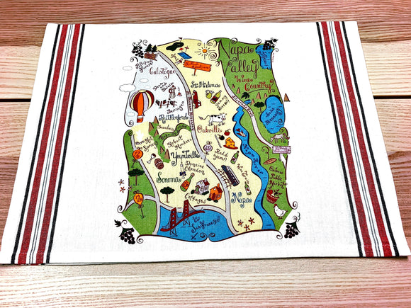 Napa Valley Map Kitchen/Tea Towel