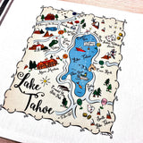 Lake Tahoe Map Kitchen/Tea Towel