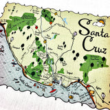 Santa Cruz Map Kitchen/Tea Towel