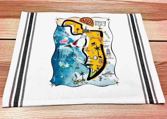 Florida State Map Kitchen/Tea Towel