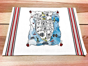 New York City Map Kitchen/Tea Towel