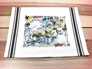 Anguilla Map Kitchen/Tea Towel