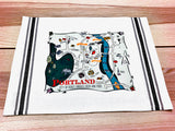Portland Map Kitchen/Tea Towel