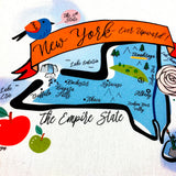 New York State Map Kitchen/Tea Towel