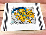 Pittsburgh Map Kitchen/Tea Towel