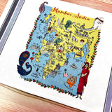 Mumbai Map Kitchen/Tea Towel