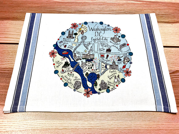 Washington D.C. Map Kitchen/Tea Towel