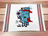 Illinois State Map Kitchen/Tea Towel