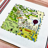 Sonoma Valley Map Kitchen/Tea Towel