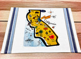 California Map Kitchen/Tea Towel