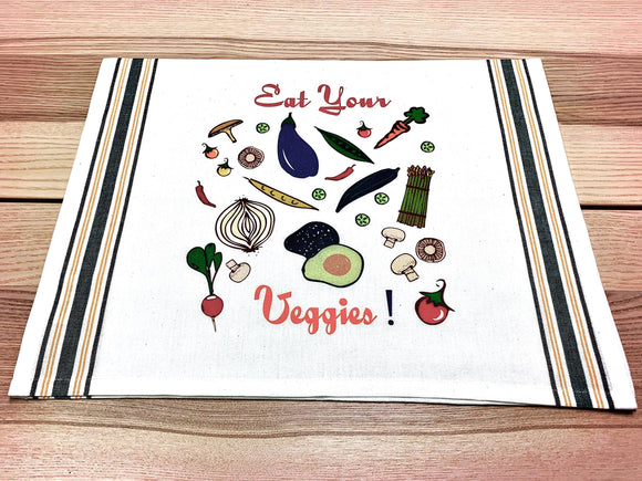 Eat Your Veggies Kitchen/Tea Towel