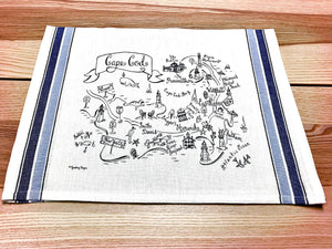 Cape Cod Map Kitchen Tea Towel