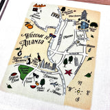 Atlanta Map Kitchen/Tea Towels