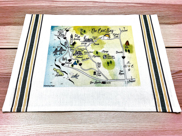 East Bay Map Kitchen/Tea Towel