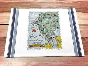 Marin County Map Kitchen/Tea Towel