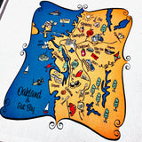 Oakland Map Kitchen/Tea Towel