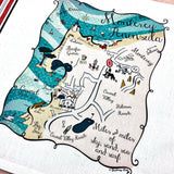 Monterey Peninsula Map Kitchen/Tea Towel