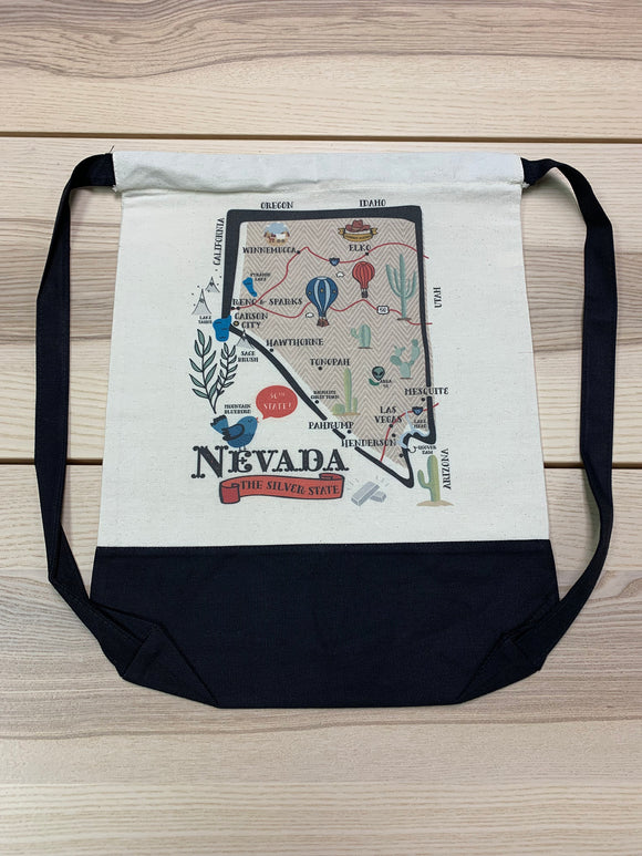 Nevada State Map Day Bag