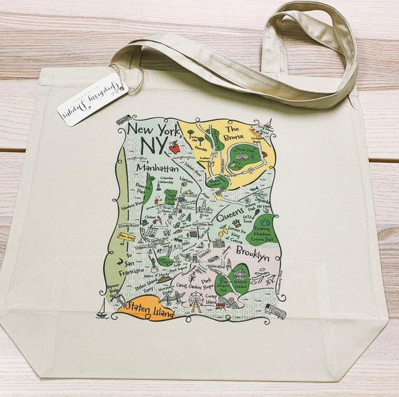 NY Boroughs City Tote