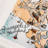 Annapolis, Maryland Map Kitchen/Tea Towel