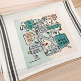 Bay Area Get Out and Hike Map Kitchen/Tea Towel