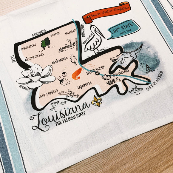 Louisiana State Kitchen/Tea Towel