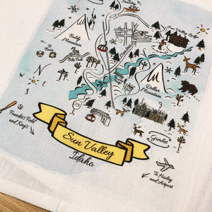 Sun Valley, Idaho Kitchen/Tea Towel