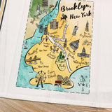 Brooklyn Map Kitchen/Tea Towel