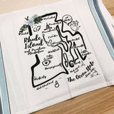 Rhode Island State Map Kitchen/Tea Towel