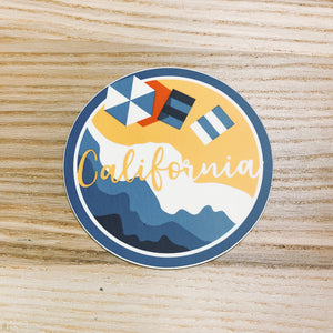 California Blue Vinyl Sticker