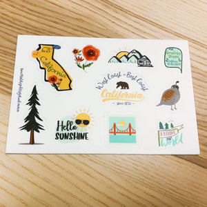 California Vinyl Sticker Sheet