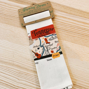 Tennessee Map Kitchen/Tea Towel