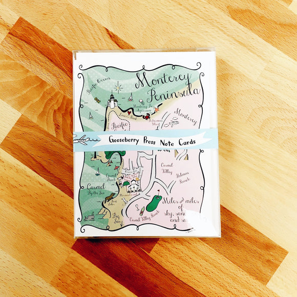 Monterey Peninsula Map Boxed Card Set
