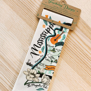 Mississippi Map Kitchen/Tea Towel