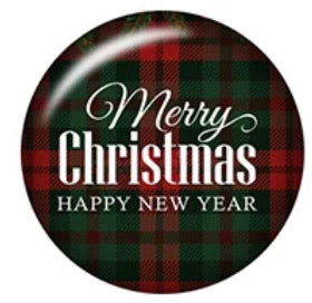 Christmas/Happy New Year-12mm Glass Cabochon
