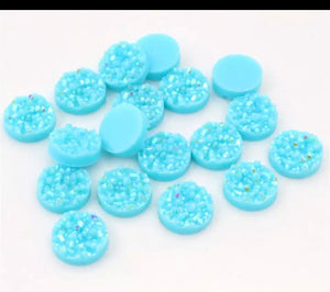 Light Blue-10/12mm Druzy