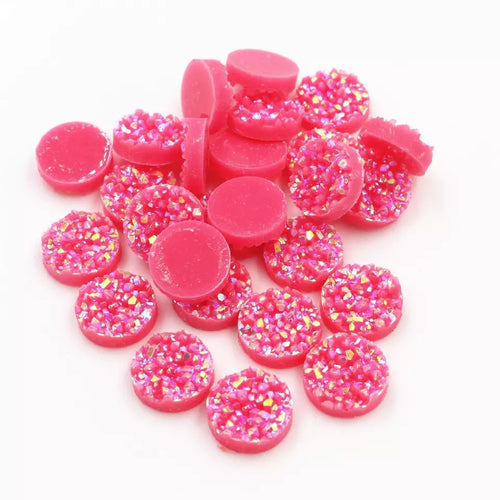Watermelon Pink-8/10/12mm Druzy