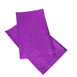 Purple Fine Glitter Canvas