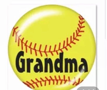 Softball Grandma Glass Cabochon