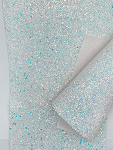 Frozen White Iridescent Premium Thick Chunky Glitter Canvas