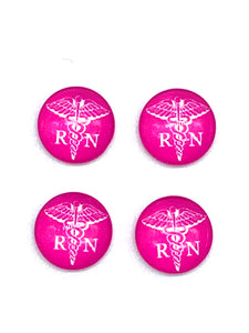 Hot Pink RN-12mm Glass Cabochon