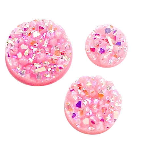 Bubblegum-8/10/12mm Druzy