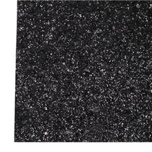 Black Chunky Glitter Canvas